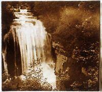 Sassenage Cascade 1925 il Furon Francia Foto Stereo PL58L2n Placca Da Lente