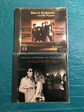 (2) CD LOT --BRUCE HORNSBY AND THE RANGE-A NIGHT ON THE TOWN-THE WAY IT IS-PROMO
