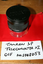 Tamron Adaptall SP 2x Tele Converter Model 01F BBAR With Instructions - VGC