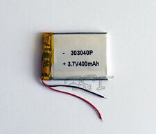 Battery Li-polymer Rechargeable ion 3.7V 400 mAh for bluetooth mp3 reader 303040