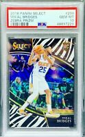2018 Select Prizm Mikal Bridges SSP ZEBRA Courtside ROOKIE RC PSA 10 🔥📈 *POP 1