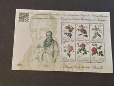 Belgium Scott #1346 FLOWERS 1990 MNH SOUVENIR SHEET CV$36 BELGICA STAMP EXHIBIT