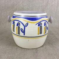 Vintage Poole Ceramiche Urna Biscottiera Dipinto a Mano Art Déco Geometrico A