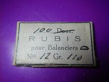 ANTIQUE Watch Movement Parts BALANCE RUBIES Jewels No. 12 Grade 110