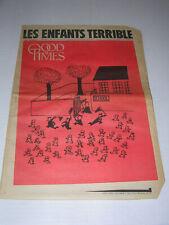 GOOD TIMES Underground Newspaper Vol 2 No.38 10.2.69 LES ENFANTS TERRIBLE