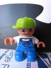 Lego Duplo Boy with Coveralls And Green Cap