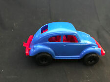Strombecker VW Sedan Made In USA Blue Body, Red Trim And Black Wheels