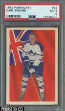1963 Parkhurst Hockey #68 Carl Brewer Maple Leafs PSA 9 MINT