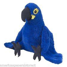 "HYACINTH MACAW 10"" tall PLUSH stuffed animal bird by Wild Republic blue parrot"