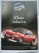 1996 Subaru Impreza Turbo 2000 Original advert