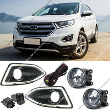 For Ford Edge 2015-2018 Front Bumper Bezel Fog Lights Lamps k Harness Switch Kit