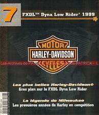 HARLEY DAVIDSON FXDL 1450 Dyna Low Rider 1999 ; 1ère années de HD en Compétition