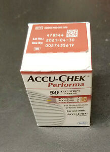 NEW/Sealed Roche Accu-Chek Performa 50 Blood Glucose Test Strips, 4/30/2021