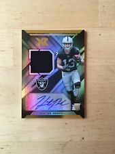 Hunter Renfrow RC Oakland Raiders 2019 Panini XR RPA Rookie Jersey Auto 161/199