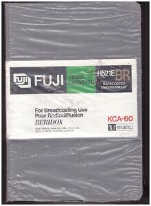 FUJI Video Cassette H521E BR KCA-60 For Broadcasting Use BERIDOX U-MATIC