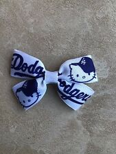 Dodgers Hello Kitty Bow with Alligator Clip