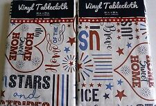Patriotic Vinyl Tablecloths Home Of The Brave Assorted Sizes