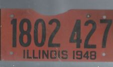 Vintage 1948 ILLINOIS CAR  license plate 1802-427