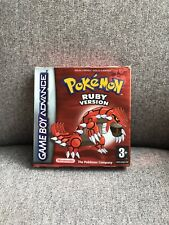 Pokemon Ruby Version Gameboy Advance Game Boxed Complete With Manuals VGC