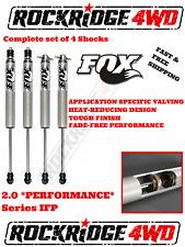 "FOX 2.0 Performance Series Shocks For 81-91 CHEVY K5 Blazer or Jimmy w/ 4"" Lift"