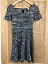 Womens Grey Dress Size Small Size 8-10 Skater Dress Short Sleeve