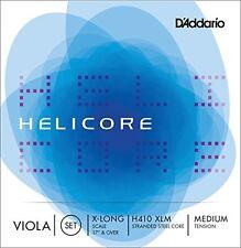 D'Addario Helicore Viola String Set, Extra Long Scale, Medium Tension