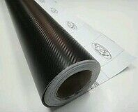 "UNIVERSAL 3D Black CARBON FIBRE VINYL WRAP STICKER FILM 50"" x 12 inch WATERPROOF"