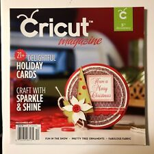 Cricut Magazine December 2011 Holiday Cards Sparkle Fun In Snow Fabric NEW