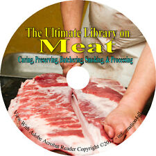42 Books on CD, Ultimate Library on Meat, Curing Preserve Smoke Home Canning