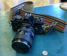 Vintage Pentax MX 35mm Camera with Additional Lens Attachment & Strap.