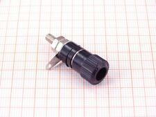 10er Pack Polklemmen 4mm Schwarz - Buchse, Schraubklemme und Lötfahne ( I01B )