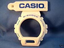 Casio Watch Parts DW-6900 CS-7 White Bezel/Shell Blue Letters. Original Casio Ca