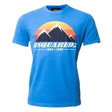 DSQUARED2 Luxus Herren T-Shirt blau, Größe XL NEU 100% Original Made in Italy