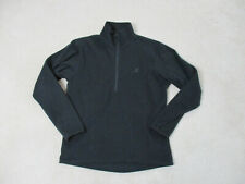 Eastern Mountain Sports Sweater Adult Small Black Half Zip Lightweight Mens