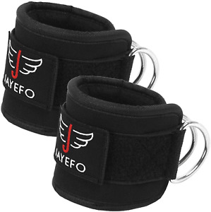 Jayefo Ankle Straps Padded for Cable Machine Attachment Leg Kickback Pulley Work
