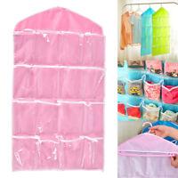 16 Pocket Door Wardrobe Hanging Organizer Bag Shoe Rack Hanger Closet Storage!w