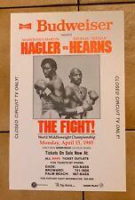 1985 Marvin Hagler Vs. Thomas Hearns Original Vintage Boxing Poster Budweiser