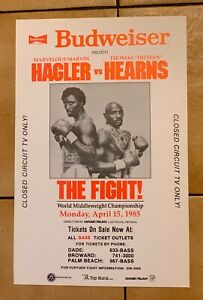 1985 Marvin Hagler Vs. Thomas Hearns Original Vintage Boxing Poster Budweiser