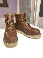 DieHard SureTrack Soft Toe Work Boots 8'' Wedge Oil Resistant Brown Model 86994