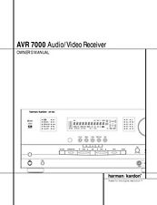Harman Kardon AVR-7000 AV Receiver Owners Manual