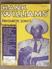 More details for hank williams favourite songs, acuff - rose publ 1953.