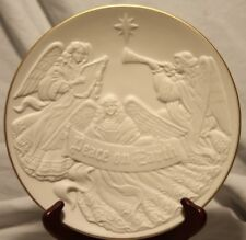 Vtg 95 Lenox Christmas Nativity Vignettes Peace On Earth Bisque Collector Plate