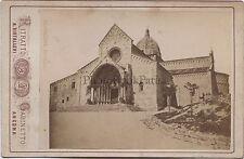 Ancona Cathédrale Italie Italia Ritrato Cabinetto A. Diotallevi Vintage albumine