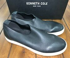 Kenneth Cole Martina Shoes Loafers Slip On Black Leather Womens Size 7.5 Narrow