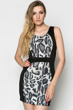 Animal Print Panel Dress Party Bodycon Shift