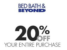 Bed Bath & Beyond 20% Off Entire Order In Store Online SUPER FAST DELIVERY 8/31
