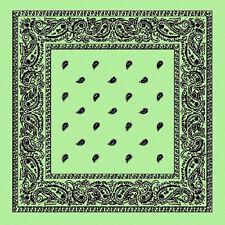 XL Verde Menta motivo Cachemira extragrande 68.6cmbig Bandana Bufanda Pañuelo de