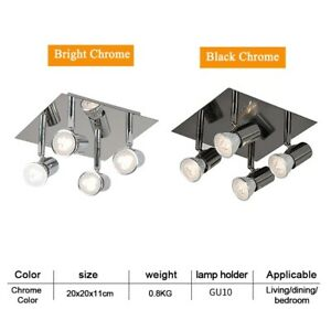 Adjustable Ceiling LED Lights Modern 4 Way Square Kitchen Spot Spotlight Fitting