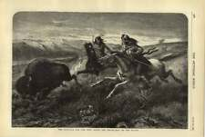 1876 Struggle For The Prey Sioux Indian And White Man On The Plains