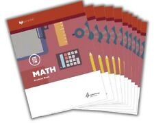 Alpha Omega Lifepac Math 4th Grade Student Workbooks (Work Texts) Set - NEW!